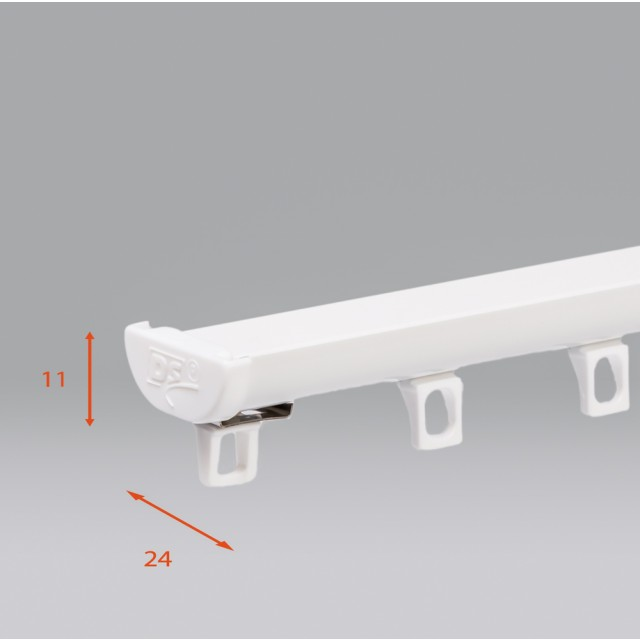 DS Gordijnrails wit van Forest € 10,95 per meter