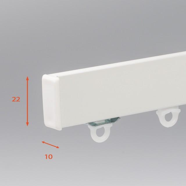 SF Compleet (incl. onderdelen) systeem Hoge Luxe Aluminium Gordijnrails € 10,95 per meter