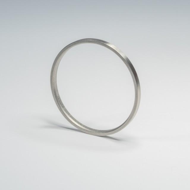 SF RVS Ring binnenmaat 44 mm - rvs roede 28 mm