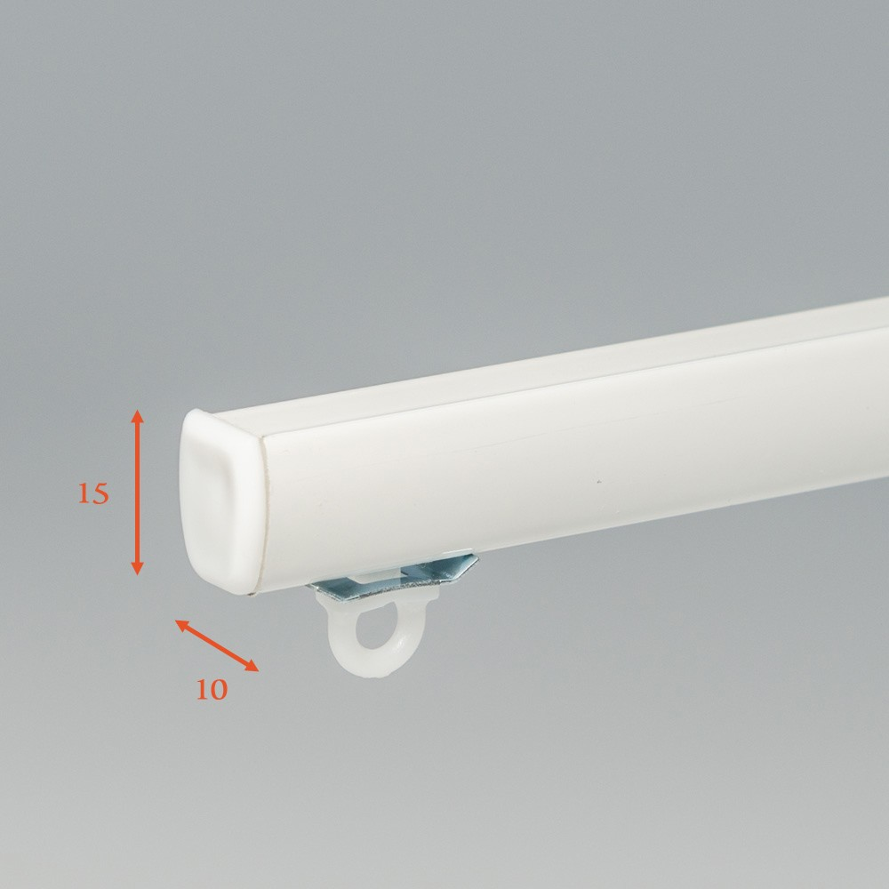 SF Compleet (incl. onderdelen) systeem Luxe Aluminium Gordijnrails € 10,95 per meter