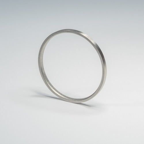 SF RVS Ring binnenmaat 44 mm - rvs roede 28 mm