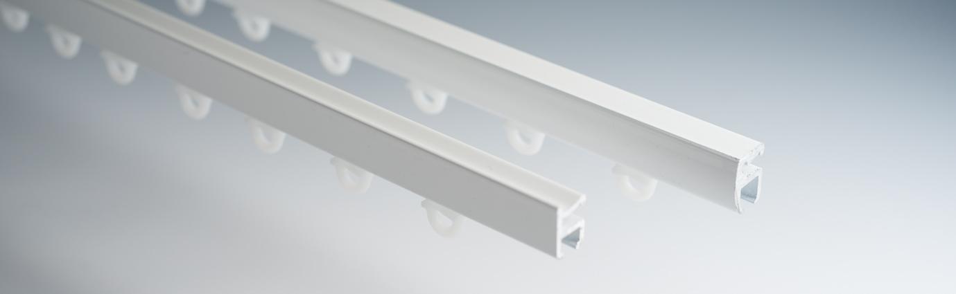 Basic gordijnrails en Luxe gordijnrails